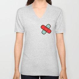 Rainbow Band-Aids Unisex V-Neck