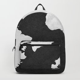 Earth Map Dark Gray and White Continents Backpack