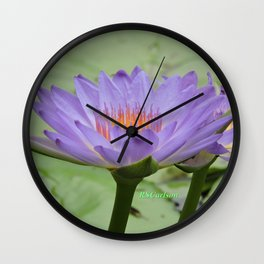 Blue Water Lilies in Hangzhou Wall Clock