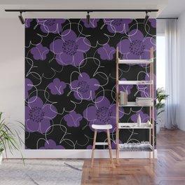 Purple Blooms Wall Mural