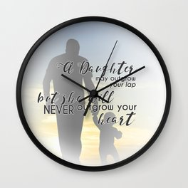 Daddy Daughter Wall Clock