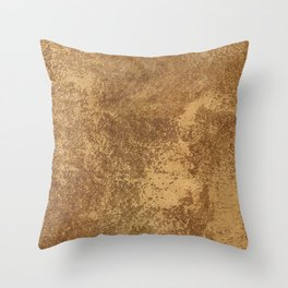 Abstract gold paper Throw Pillow