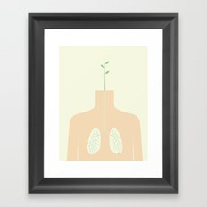 INHALE Framed Art Print