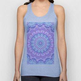 Beautiful Rose Blue Pastel Flower Mandala Unisex Tank Top