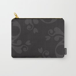Venetian Damask, Ornaments, Swirls - Gray Black Carry-All Pouch