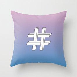 Geometries in Flat Spaces #1 Throw Pillow