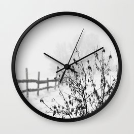 A White Winter Day Wall Clock