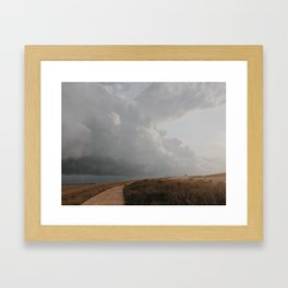 Golden Storm Prairie Framed Art Print