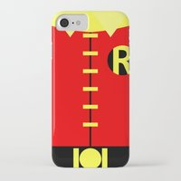 teen titans iPhone & iPod Cases featuring Minimalist Robin - Titans by Sterling Arts & Design