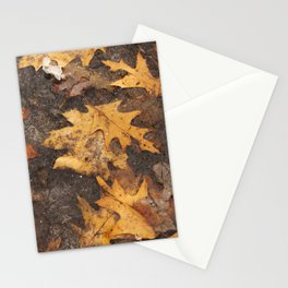 Feuille en hiver Stationery Cards