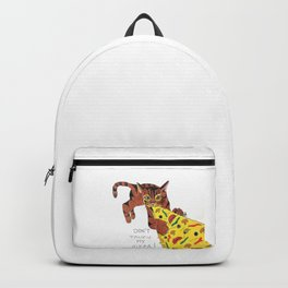 Don't touch cat's pizza Backpack