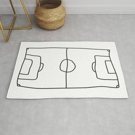 Football in Lines Rug