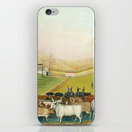 The Cornell Farm by Edward Hicks iPhone Skin