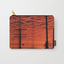 Neon Sunset Carry-All Pouch