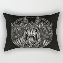 Odin and his wolves Geri and Freki Rectangular Pillow
