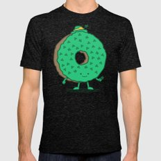 The St Patricks Day Donut Tri-Black Mens Fitted Tee X-LARGE