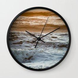 Coral Ocean Sunset Wall Clock