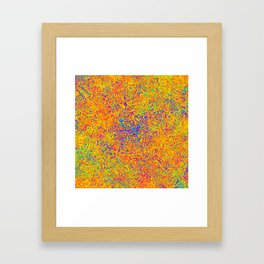 Orange and Blue Medley Framed Art Print