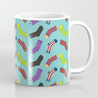 socks Mugs featuring Avenging Socks by Kelslk