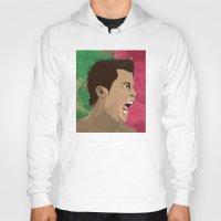 ronaldo Hoodies featuring Cristiano Ronaldo by Pastran Designs