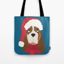 Basset Hound Christmas Dog Tote Bag