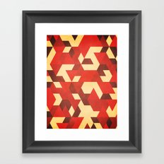 Fiery Framed Art Print