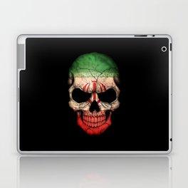 Dark Skull with Flag of Iran Laptop & iPad Skin