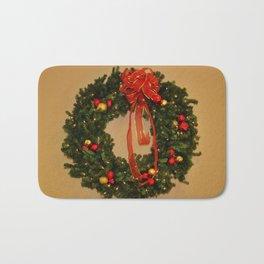 Holiday Wreath Bath Mat