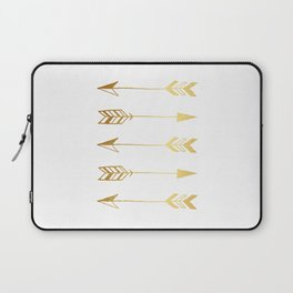 Faux gold foil arrows Laptop Sleeve