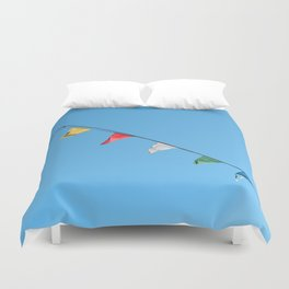 Colorful and minimal party Duvet Cover
