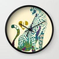 cheetah Wall Clocks featuring Cheetah by Danny Haas