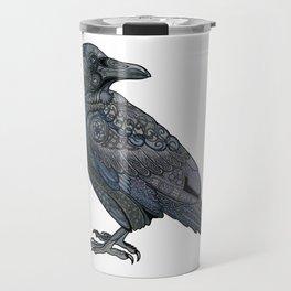 Celtic Raven Travel Mug