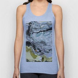 Abstract Nature Yellow Teal Blue Unisex Tank Top