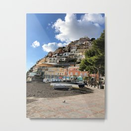 on the coast of Positano Metal Print