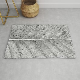 Abstract details of a big tree leaf Rug