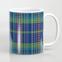 emerald and navy dobbie plaid Coffee Mug