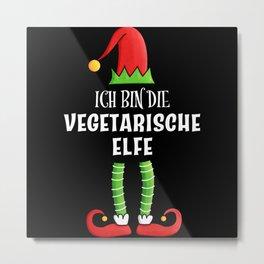 Vegetarische Elfe Partnerlook Weihnachten Metal Print