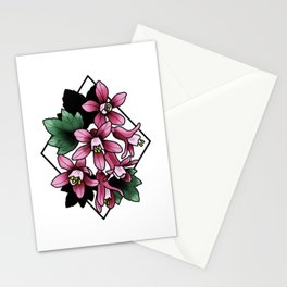 Red Flowering Currant Stationery Cards