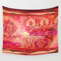 boho Wall Tapestries featuring boho ethnic by Ariadne