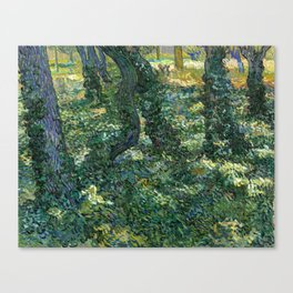 """Vincent Van Gogh """"Trees and undergrowth"""" Canvas Print"""