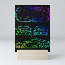 GR Supra Mk 5 Mini Art Print