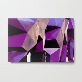 Abstract Geometric Purple Print Metal Print