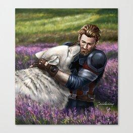 Man the White Wolf Canvas Print