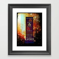REVELATION 5:13 Framed Art Print