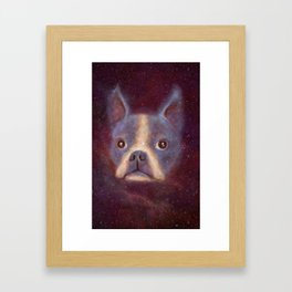 Boston Terrier Nebula Framed Art Print