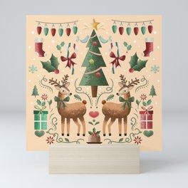 Vintage Holiday Christmas Jubilee Mini Art Print