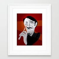 hannibal Framed Art Prints featuring Hannibal by nachodraws