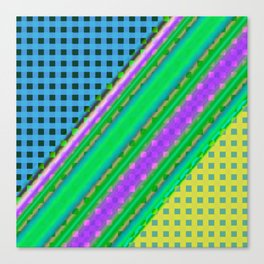 Plaid design Modern WR Canvas Print