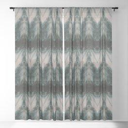 Shades of Green Shibori Sheer Curtain