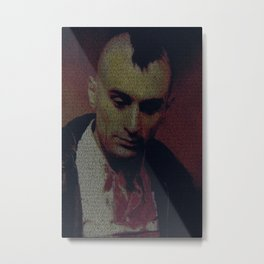 Travis. Taxi Driver Screenplay Print Metal Print